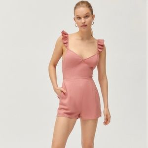 Urban Outfitters Kai Ruffle Tie-Back Romper
